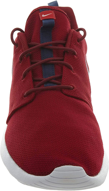 Nike Rosherun, Baskets Basses Homme Red Crush Midnight Navy