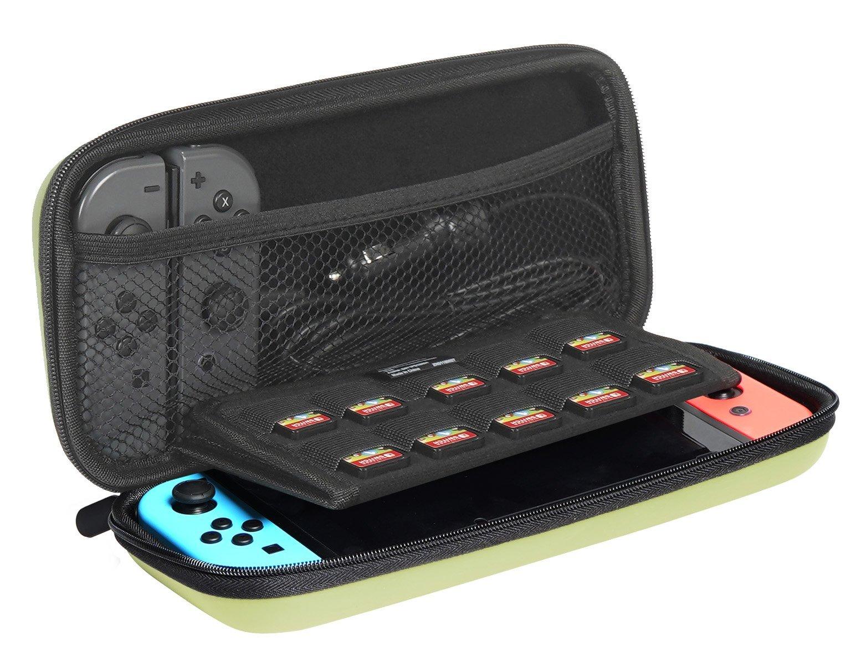 AmazonBasics Carrying Case for Nintendo Switch, Neon Yellow