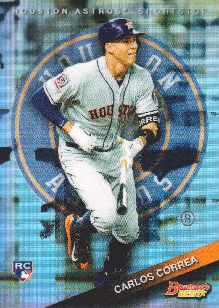 2015 Bowmans Best Refractor #58 Carlos Correa Baseball Rookie Card