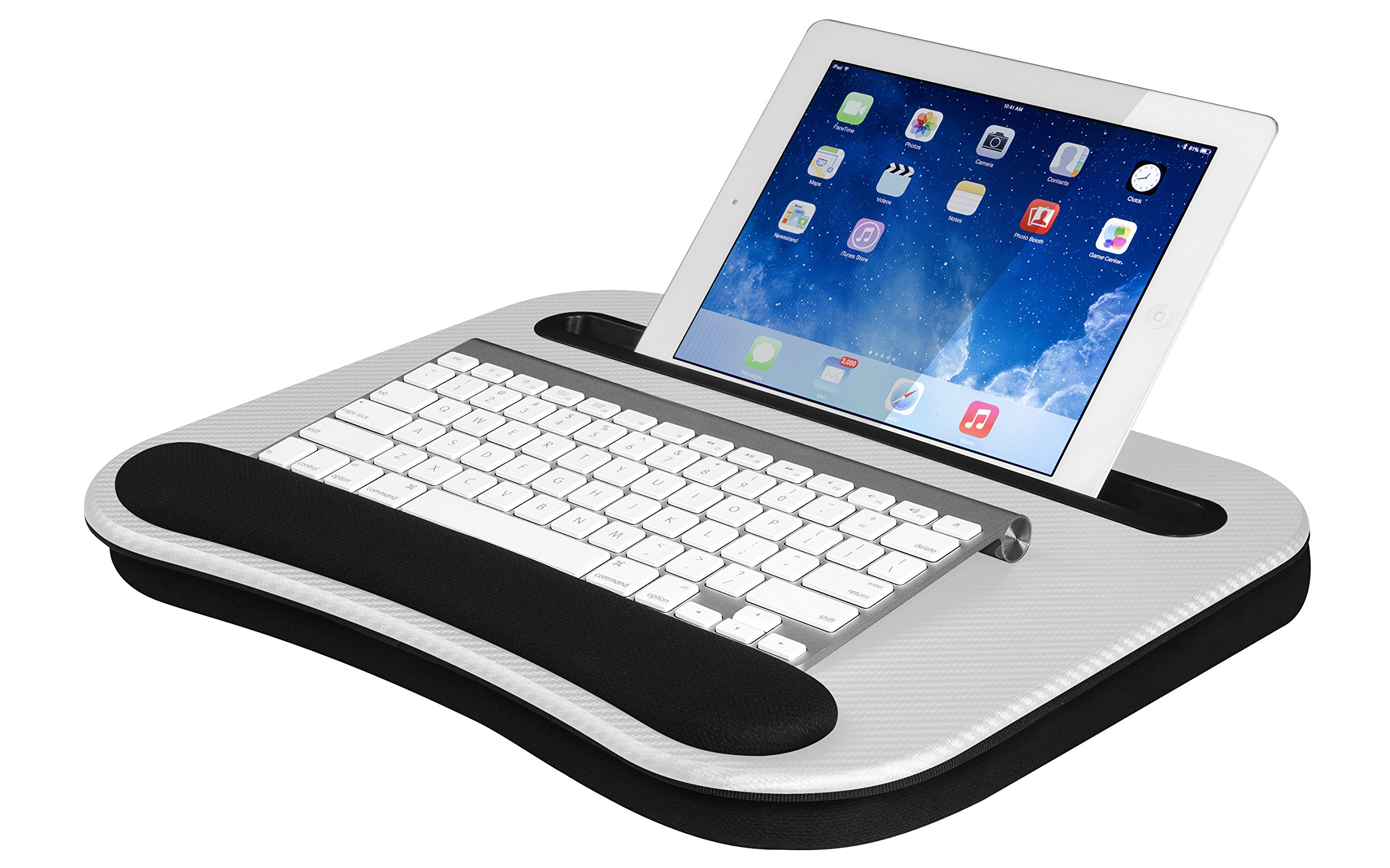Smart-e Lap Desk, White (Fits up to 12.9'' Tablet/15.6'' Laptop)