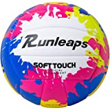 Beach Volleyball Official Size 5 - Runleaps Soft Waterproof Volleyball Sand Sports PU Ball for Indoor, Outdoor, Pool, Gym, Tr