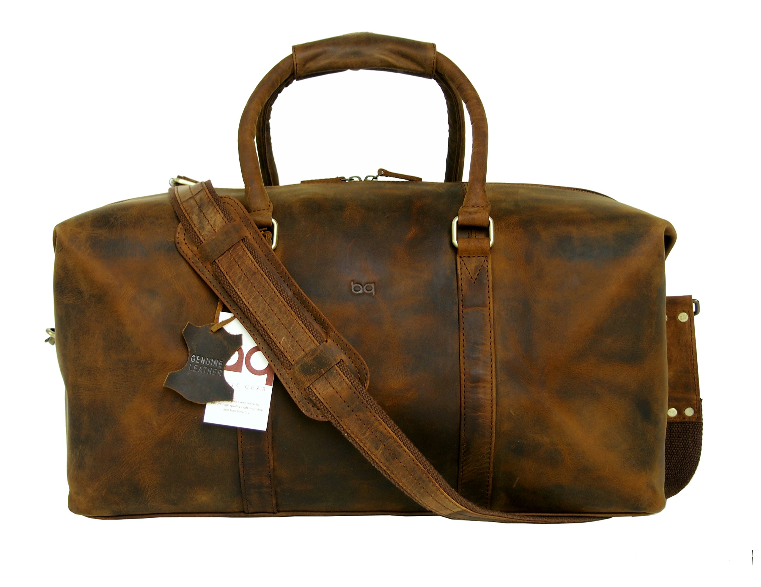 Basic Gear Full Grain Leather Duffle Bag by Basic Gear