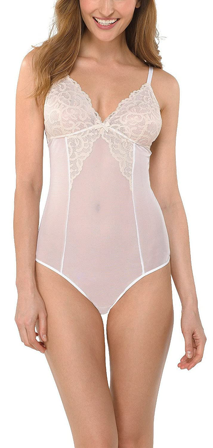 230b5d40d121c4 Gilligan & O'Malley Women's Lace Teddy Lingerie, White, M at Amazon Women's  Clothing store:
