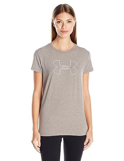 afb1ade64 Amazon.com  Under Armour Women s Big Logo Short Sleeve T-Shirt  Clothing