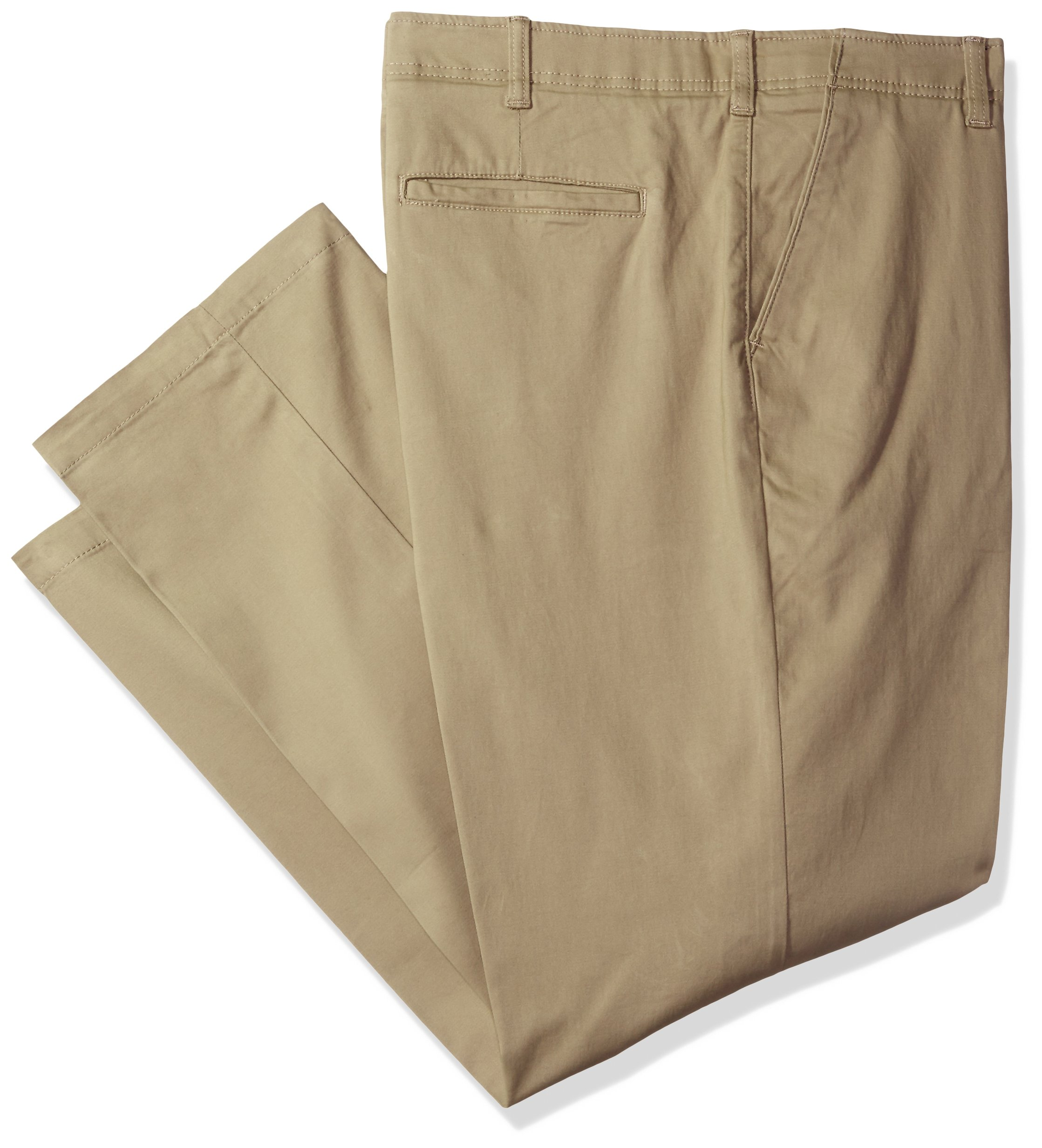 LEE Men's Big and Tall Performance Series Extreme Comfort Pant, Pebble, 48W x 30L