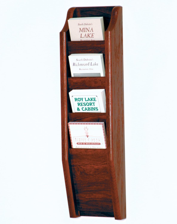 WM 4-Pocket Legal-Size Wall Mounted Chart Racks Model ET-CH17-4-Mahogany