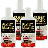 FLEET MAGIC 4x 250 ml (7003) --- Scheibenversiegelung Glasversiegelung Windschutzscheiben-Versiegelung Scheiben Glas Regenabweiser Wasserabweiser unsichtbarer Scheibenwischer Nano-Effekt Abperleffekt -- ABACUS