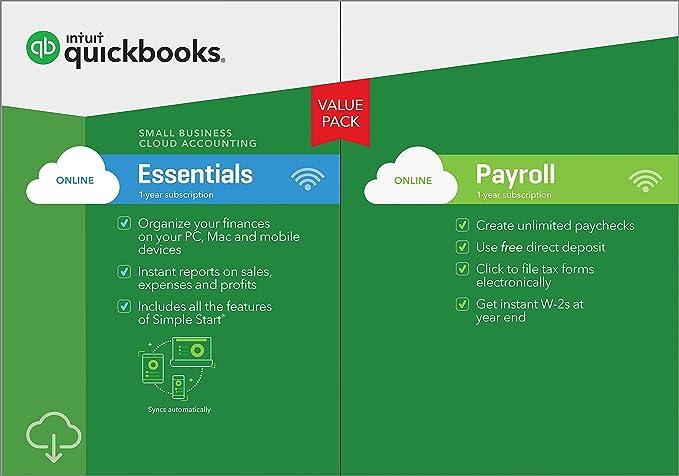 Amazon com: QuickBooks Online Essentials with Payroll 2019