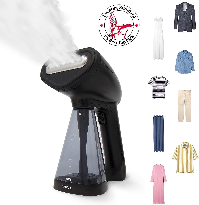 Fridja f10 Handheld Clothes Steamer, 1500W Potente vapor de tela, Steam de viaje portátil, Steam Iron, perfecto para el hogar y el viaje - Negro