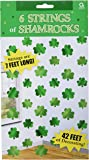 Lucky Irish Green St. Patrick's Day Shamrock Foil String Party Decoration, Foil, 7', Pack of 6