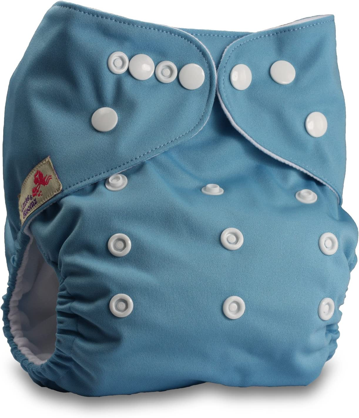 Set of 1 Littles /& Bloomz Pattern 15 Reusable Pocket Cloth Nappy with 1 Microfibre Insert Fastener: Popper