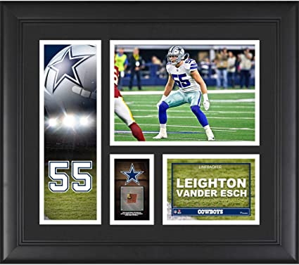8d634429915 Leighton Vander Esch Dallas Cowboys Framed 15 quot  x 17 quot  Player  Collage with a Piece