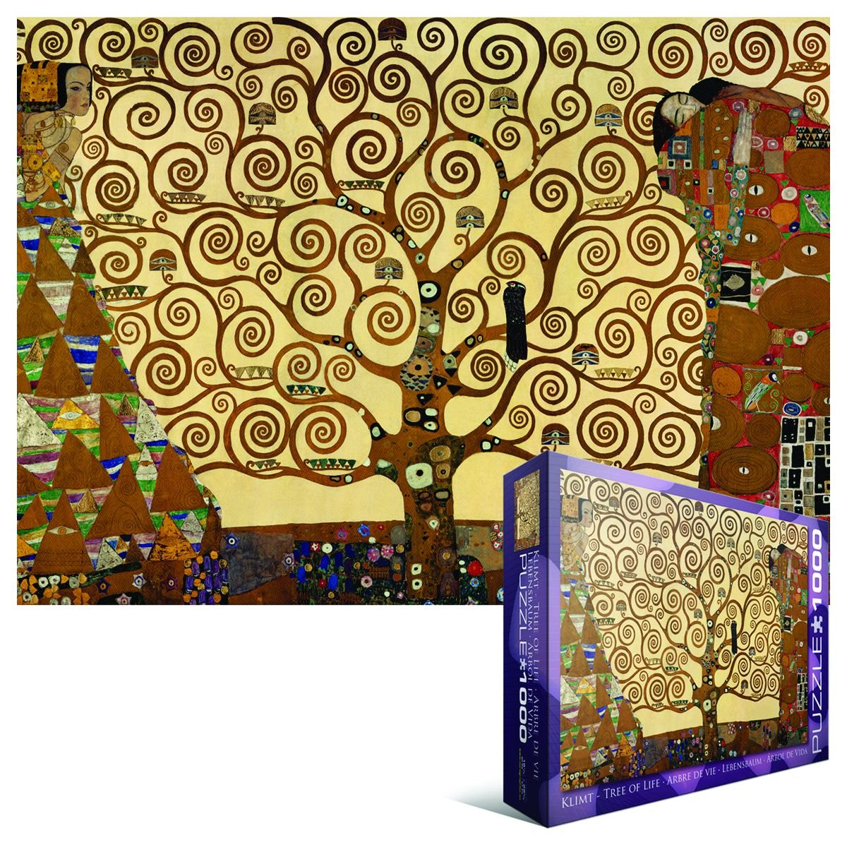 amazoncom tree of life by gustav klimt 1000piece puzzle toys u0026 games