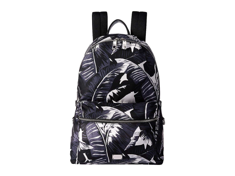 [ドルチェ&ガッバーナ] Dolce & Gabbana メンズ Banana Leaf Printed Nylon Backpack バックパック Black [並行輸入品]   B06Y18JCNY