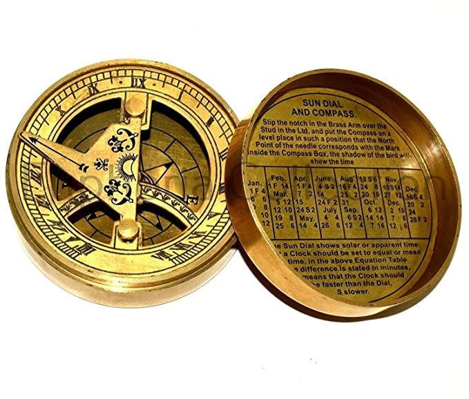 Antique Brass Vintage Brunton Compass Collectible Gift