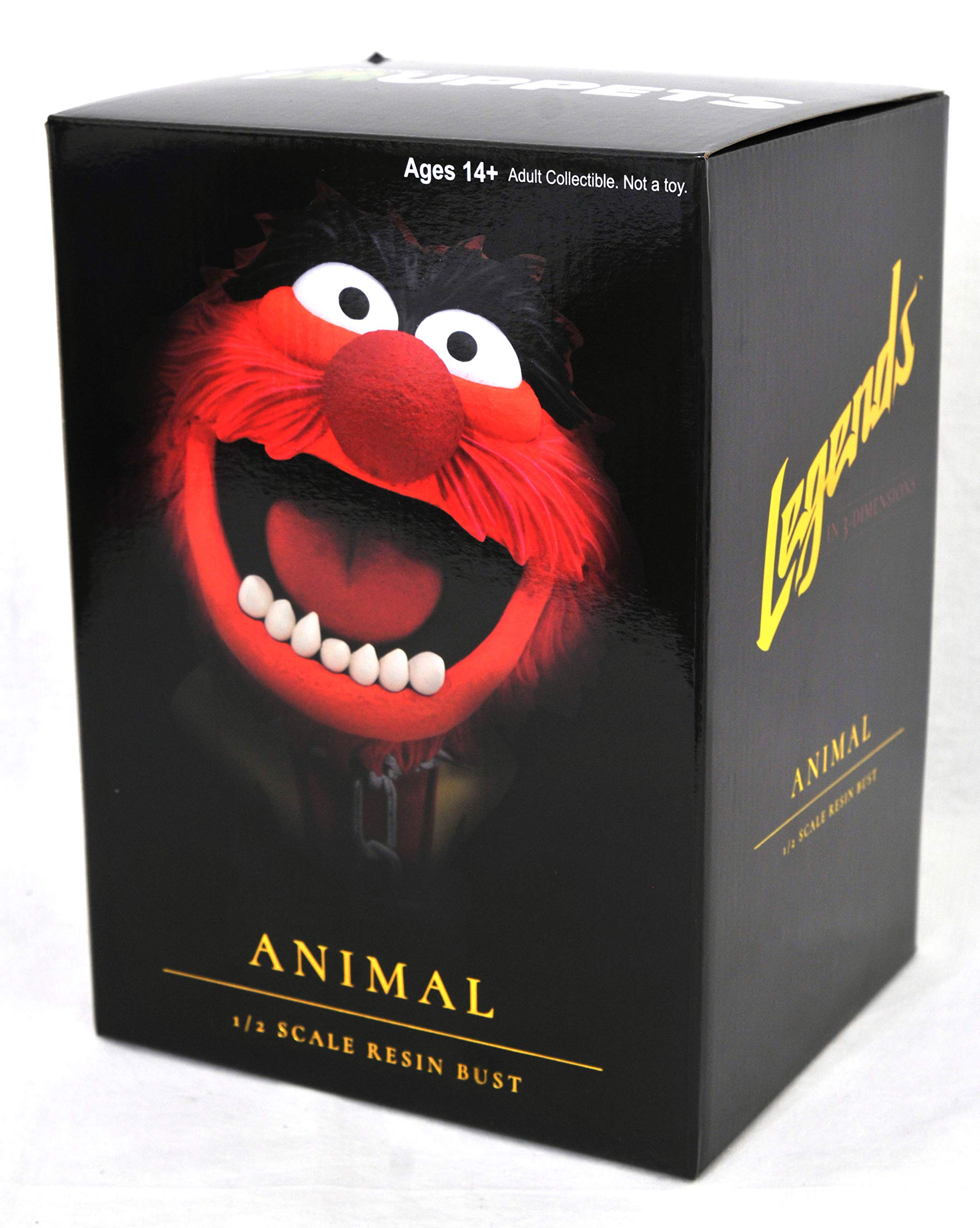 DIAMOND SELECT TOYS OCT182226 Select Toys Legends in 3-Dimensions: The Muppets Animal 1: 2 Scale Bust, Multicolor by DIAMOND SELECT TOYS (Image #3)