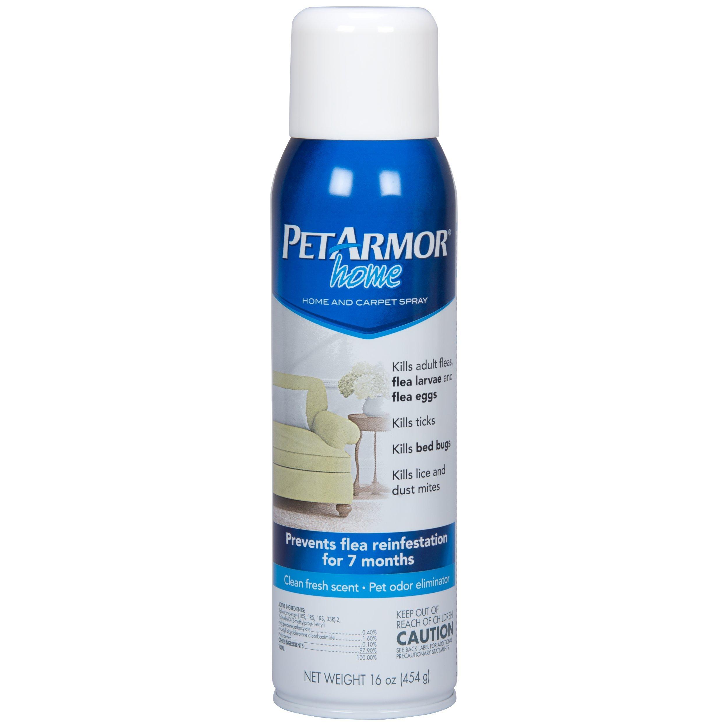PETARMOR Home and Carpet Spray for Fleas and Ticks, Protect Your Home From Fleas and Eliminate Pet Odor, 16 Ounce by PETARMOR