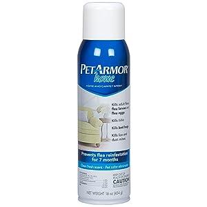 PETARMOR Home and Carpet Spray for Fleas and Ticks, Protect Your Home From Fleas and Eliminate Pet Odor, 16 Ounce