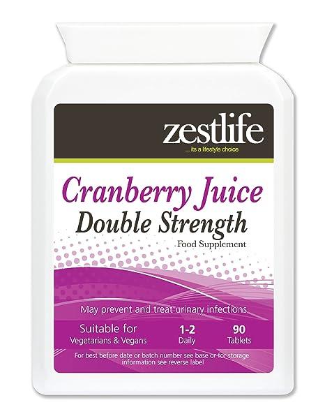 Zestlife Cranberry Tabletas 4500mg Doble Fuerza - 90 comprimidos | * OFERTA ESPECIAL * Puede prevenir