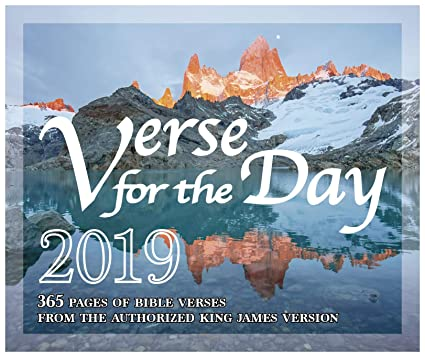 Amazon com : 365 Bible Verse for the Day - 2019 Daily Desk