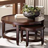 Emerson Brown Wood Nesting Table Set - 55 Downing Street