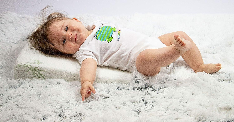 Zollner Almohada cuña antireflujo para bebé, 36x36 cm, viscoelástica