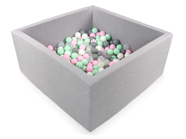 Tweepsy Bébé Piscine A Balles pour Enfants Bambin 250 Balles 90x90X40cm - Fabriqué en EU - BKWZ1
