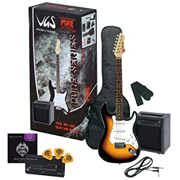 VGS GUITARRA ELECTRICA PURE DE SERIES RC DE 100 GUITAR PACK 0685