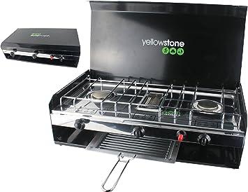 Yellowstone GA002 - Hornillo portátil para Acampada, Color Negro: Amazon.es: Deportes y aire libre