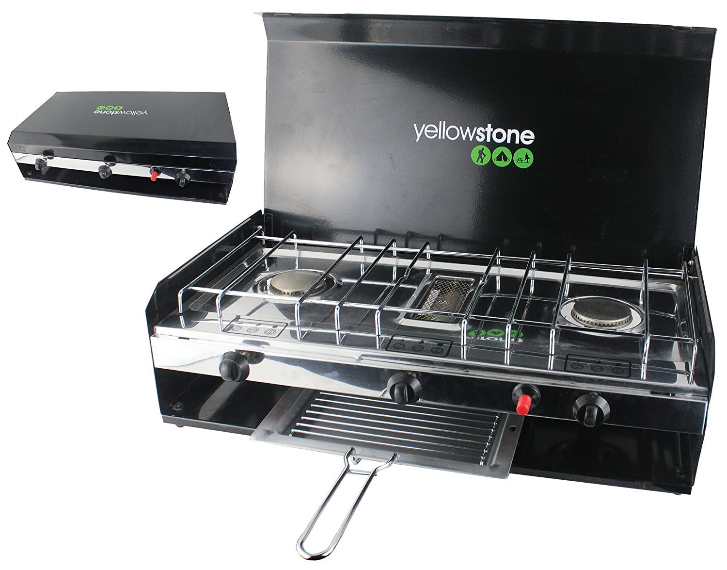 5532dd23bfd Yellowstone Outdoor Double Burner available in Multicolore -  Amazon.co.uk   Sports   Outdoors