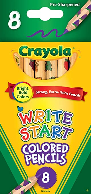 Amazon.com: Crayola 8ct Write Start Colored Pencils: Toys & Games