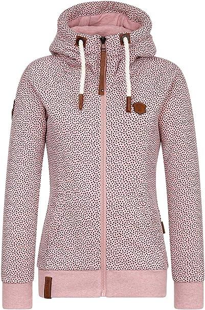 Naketano Sweatshirt Jacke Damen Pink | Jacken damen