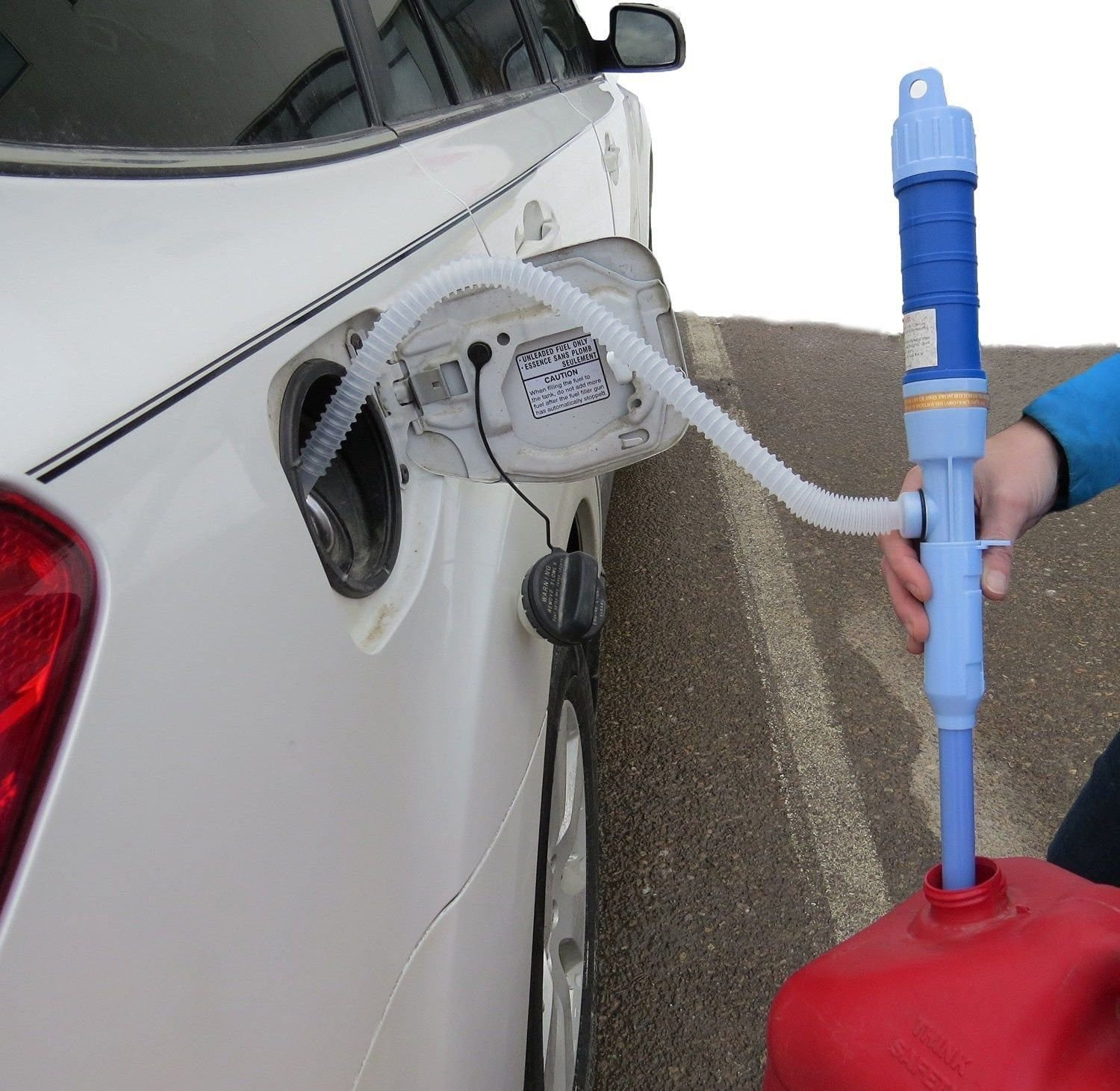 Car Electric Battery Syphon Powered Pump Diesel Fuel Water Gas Siphon Pump Hose by new (Image #5)