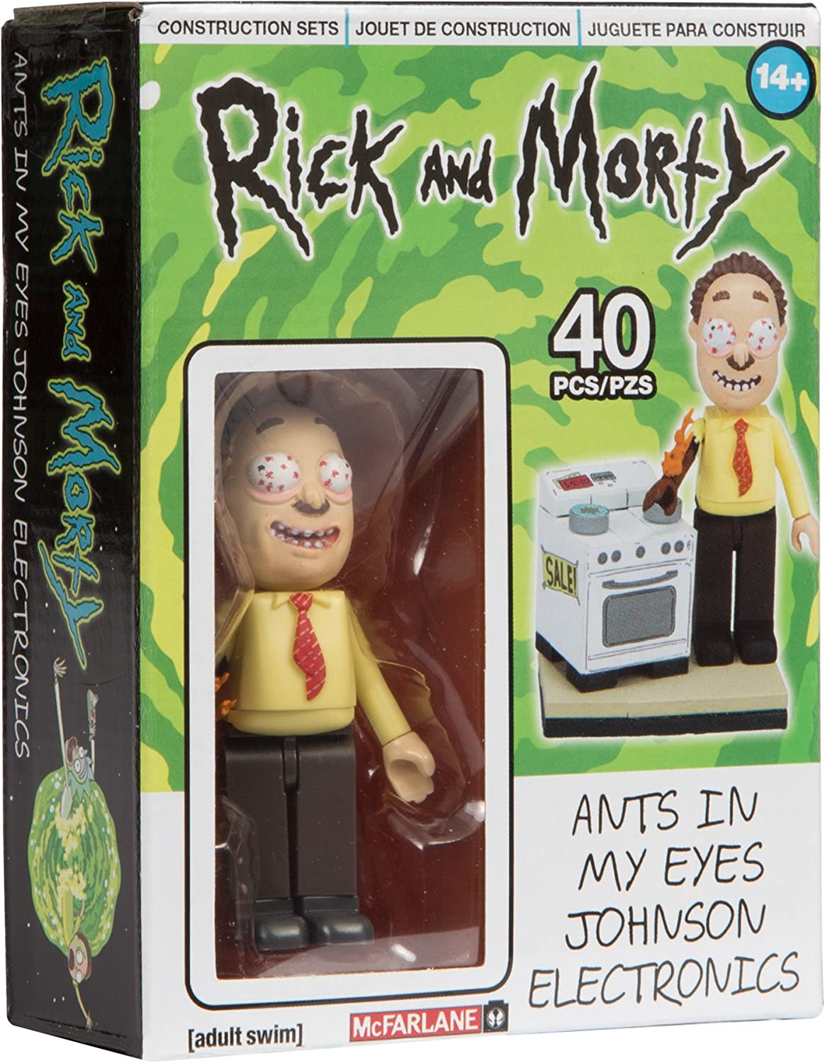 Rick and Morty Ants In My Eyes Johnson Electronics 40 pcs NEW
