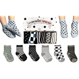 Toddler Boy Non Slip Socks, Best Gift For 1-3 Year Old Boys Baby Boy Gifts Anti Slip Non Skid Grip Socks Birthday Gift Set by Tiny Captain