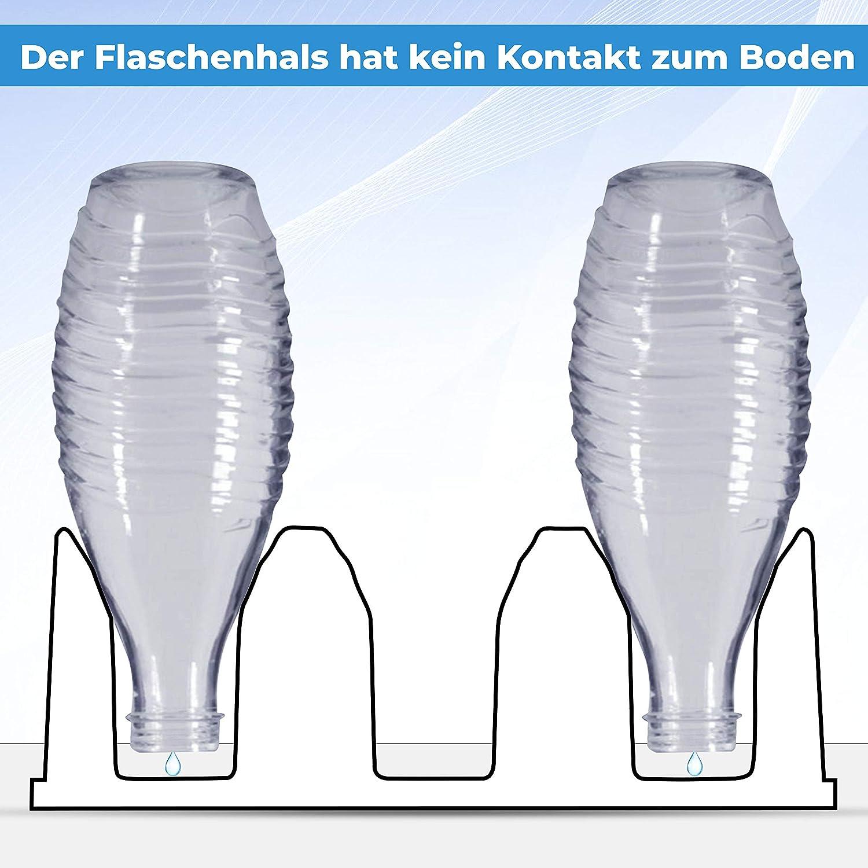 Passe au lave-vaisselle Lot de 3 porte-bouteilles en plastique noir brillant Crystal Easy Power Pour SodaStream Aarke Emil avec support de couvercle