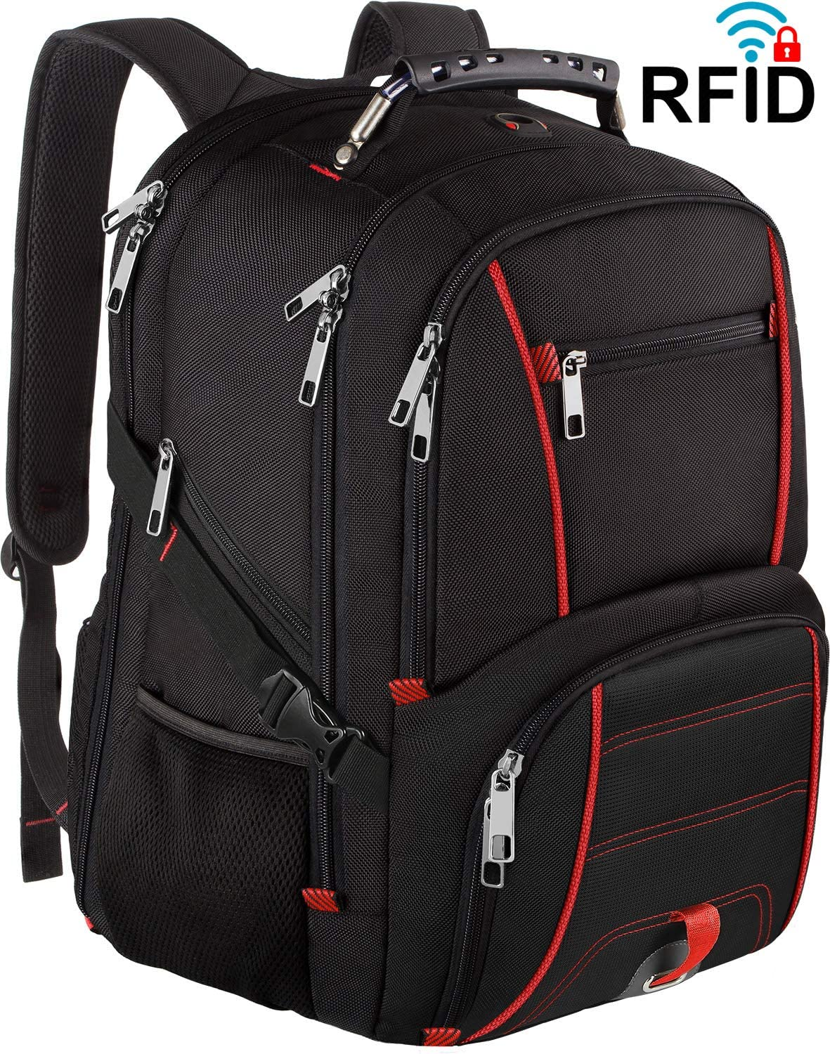 Extra Large Laptop Backpack,Travel Big Capacity RFID TSA Friendly Durable Men Women Computer Backpack with USB Charging Port Headphone Hole,College High School Bookbag Fit 17.3 Inch Laptop&Notebook