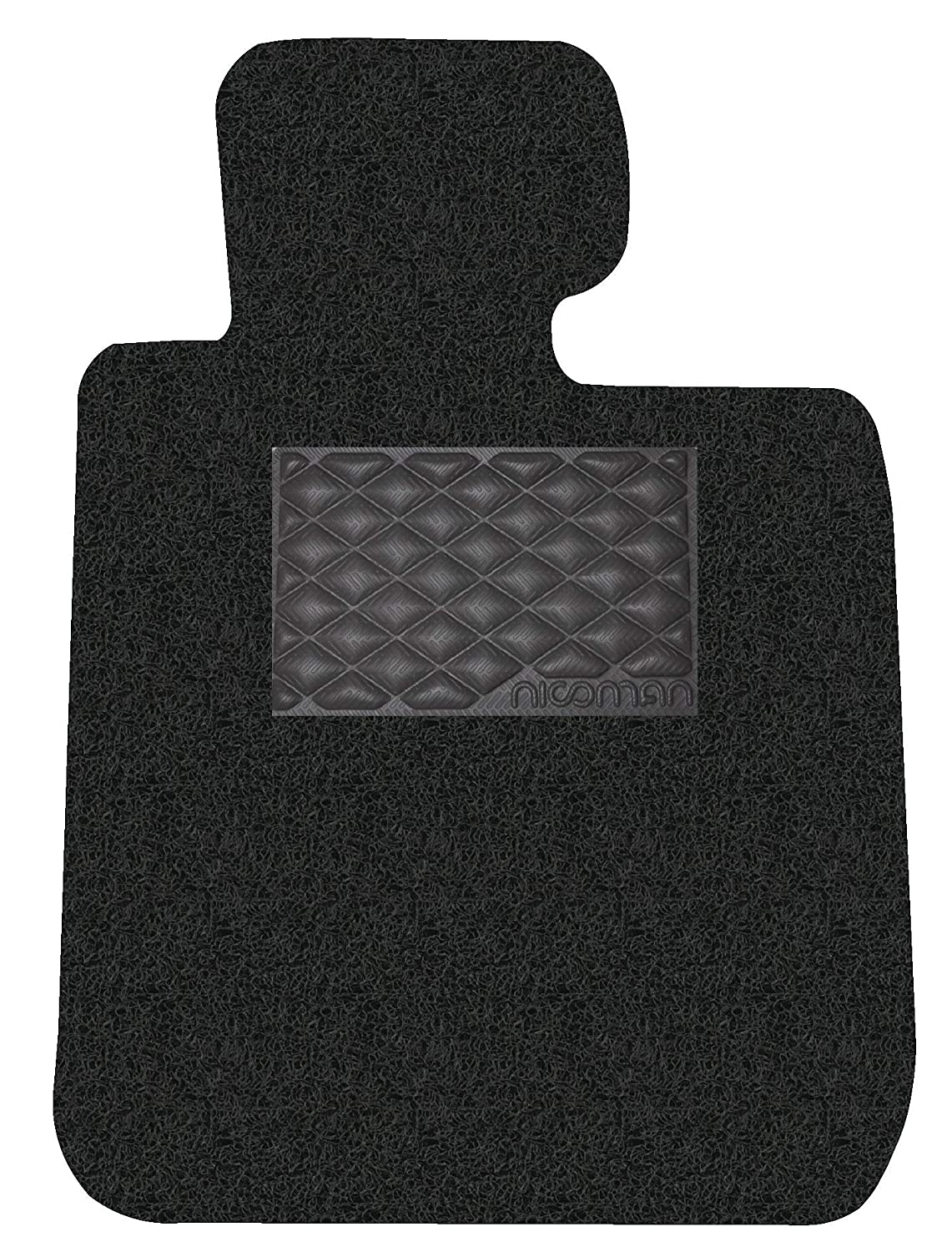 Nicoman Spaghetti All-Weather Fully Tailored Car mats Fit【1-Series Coupe//Cabriolet E82//E88 Year 2008-2016】 Full Set 4-Piece,Black