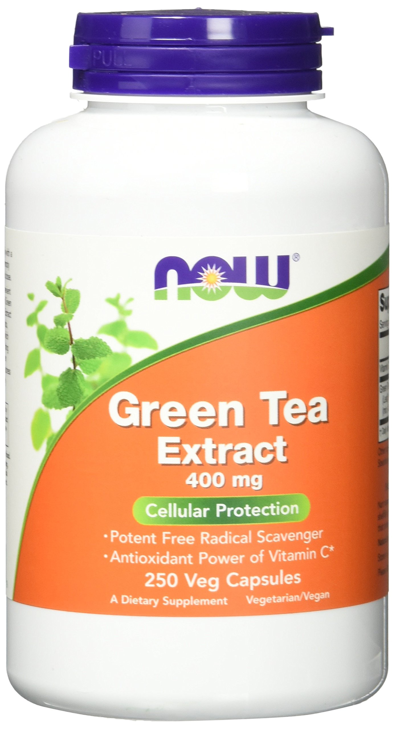 NOW Green Tea Extract 400 mg, 250 Veg Capsules