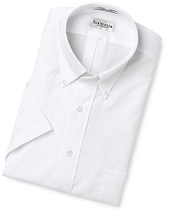 2c71f084 Van Heusen Men's Big Easy Care Pinpoint Solid Short Sleeve Shirt,White,17.5