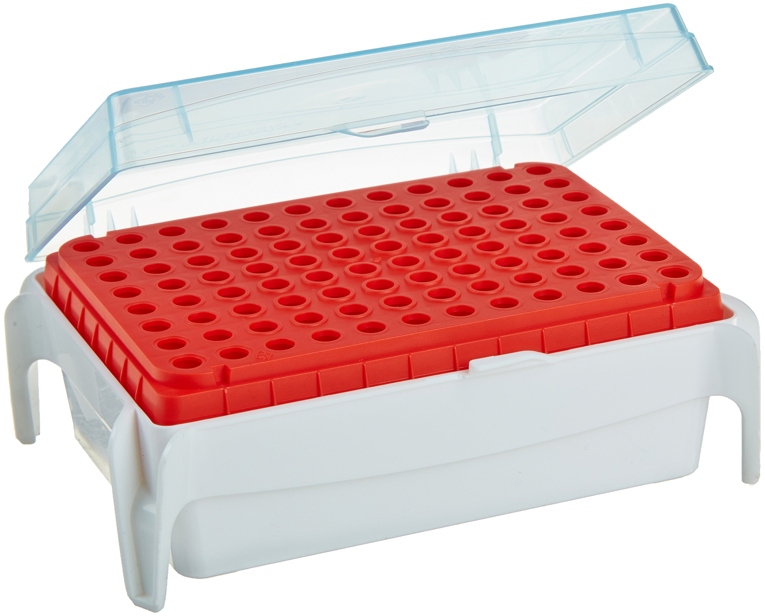 Gilson Pipetman F171102 Polypropylene Empty Tip Rack for 0.1-10µl Diamond Pipettor Tips (Set of 2)