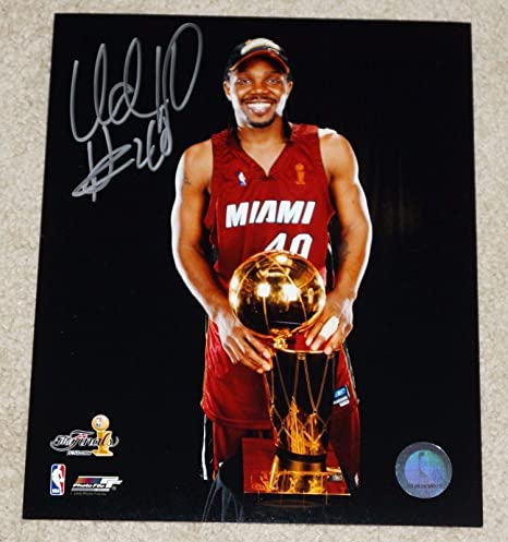 get cheap be0ed b2a90 Autographed Udonis Haslem Photo - #40 8x10 - Champs ...