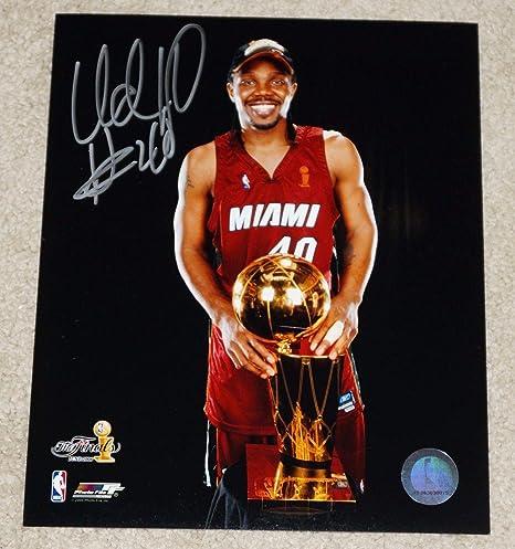 get cheap 36abd 1be3c Autographed Udonis Haslem Photo - #40 8x10 - Champs ...