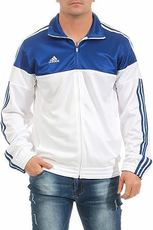 adidas Warm Up Jacket Trainingsjacke Herren weiß blau schwarz Sportjacke