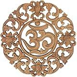 NOVICA Wood Relief Panel, 'Flower Om'