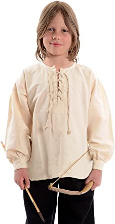 HEMAD Camisetas de caballero medieval para niños - Algodón puro – S-XXXL Beige: Amazon.es: Ropa y accesorios