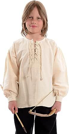 HEMAD Camisetas de caballero medieval para niños - Algodón puro – S-XXXL Beige