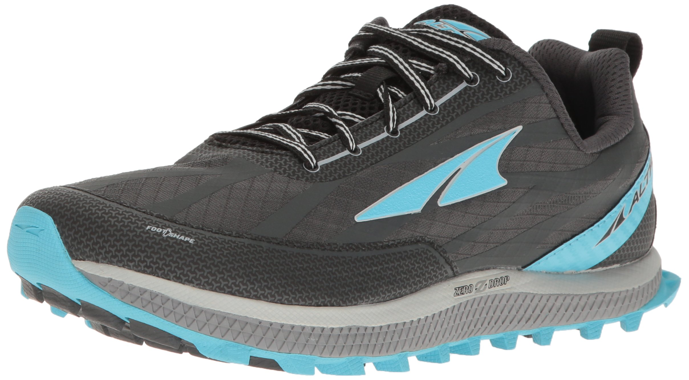 Altra Women's Superior 3 Running Shoe, Charcoal/Blue, 9.5 M US