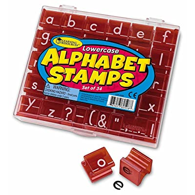 Learning Resources Lowercase Alphabet Stamps, Classroom Teacher Accessories, 34 Pieces, Ages 3+: Office Products [5Bkhe2004289]