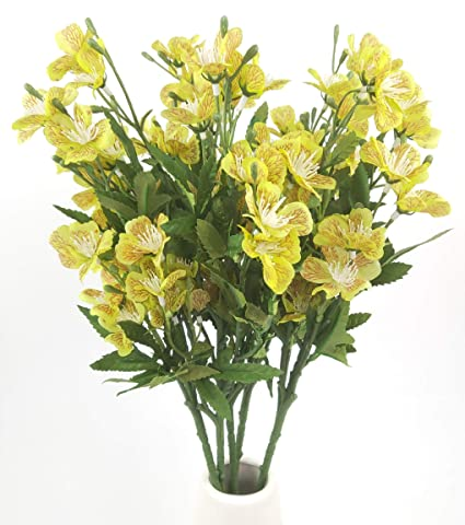 Amazon 25 Long Stem Of Artificial Flowers Faux Plants For Tall